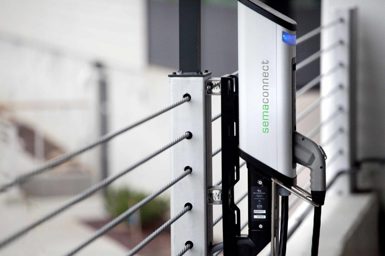 SemaConnect wall-mounted smart EV charging station