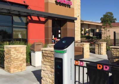 SemaConnect smart EV charging station in Yorba Linda, California