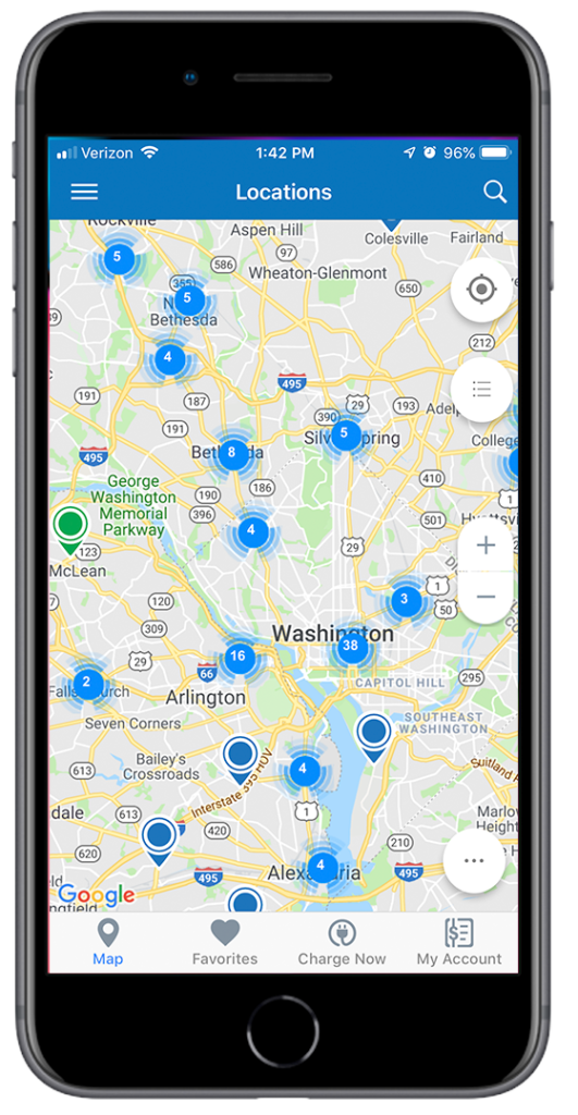 SemaConnect app- locations