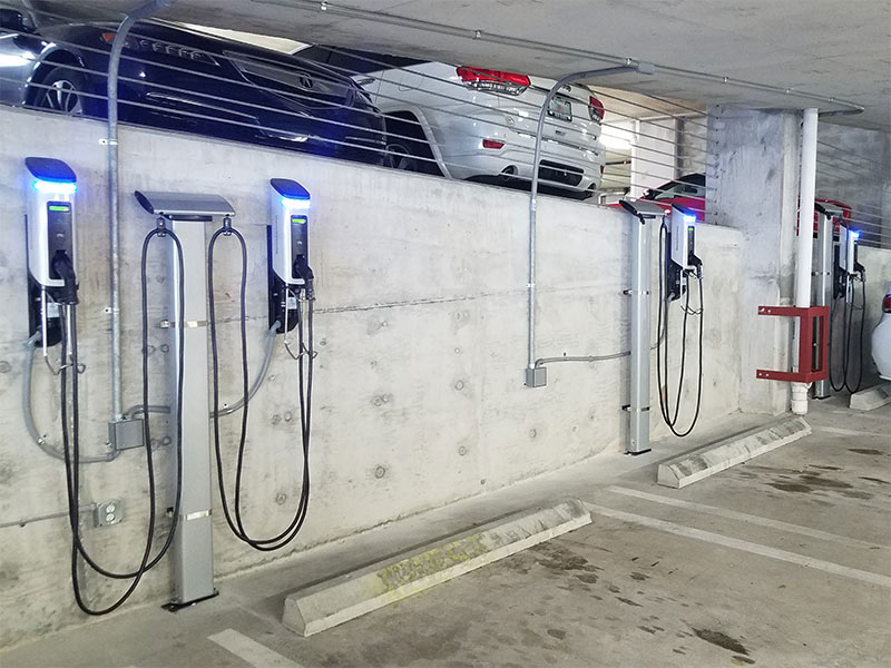 SemaConnect EV charging stations at a Modera by Mill Creek apartment community