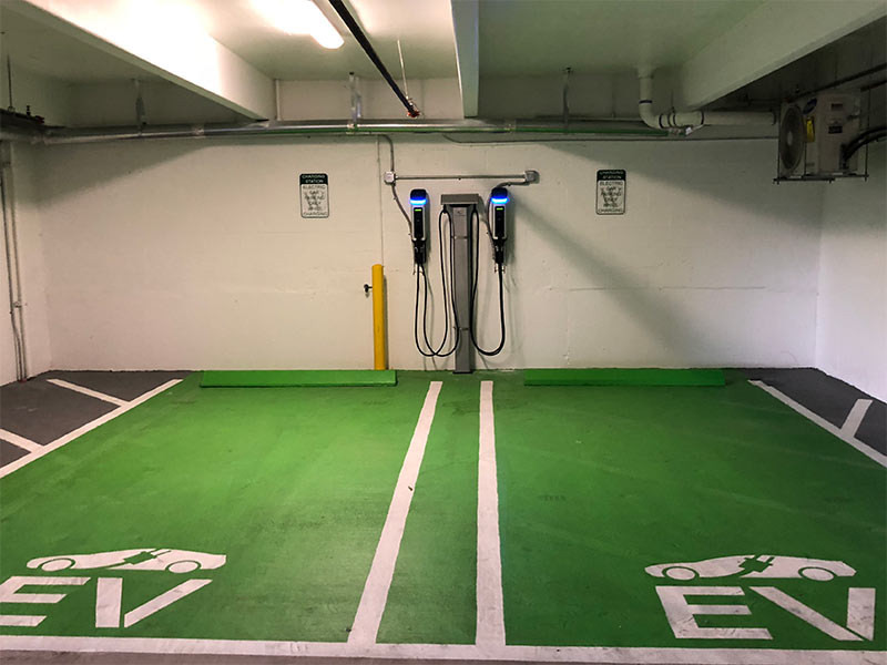 SemaConnect EV charging stations at a Windsor apartment community