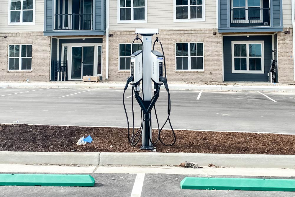 SemaConnect EV charging stations at The Pearl at Marina Shores in Virginia Beach
