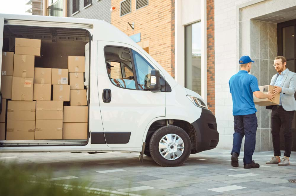 delivery van full of packages
